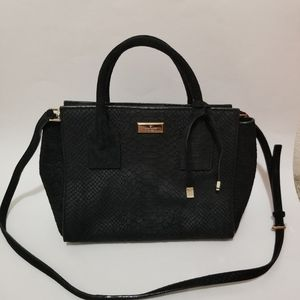 Kate Spade Crossbody Bag Suede Leather Snake Purse